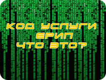 Код услуги ЕРИП. Оплата по коду услуги ЕРИП